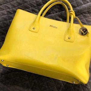 Yellow Furla handbag